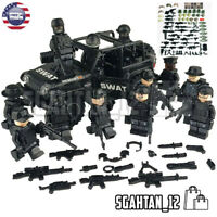 Custom SET Military minifigure Bicks Swat Police Army Team Toys For Lego City