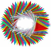 75 Large Flag Bunting Banner Multi-Coloured Nylon Party Birthday Wedding 164Feet