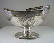 Georgian Silver Sugar Basket, London 1787 by Robert & David Hennell 1796