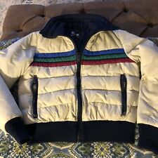 Vintage Roffe Women's M Ski Jacket Puffer Coat 70's-80's Cropped Striped