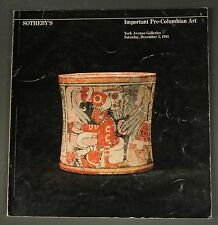 Sothebys Fine Pre-Columbian Art Ny December 1981 with prices