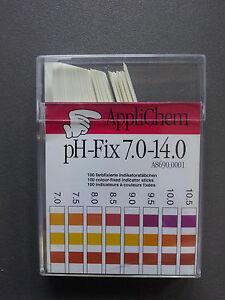 pH-Fix Indikatorteststreifen pH 7,0-14,0 Abstufung pH 0,5 nicht blutend 100 St.