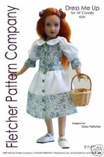 "Button Up Doll Clothes Sewing Pattern for 14"" Kish Fletcher Pattern Co"