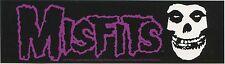 THE MISFITS purple logo w/ crimson ghost skull STICKER **Free Shipping** danzig