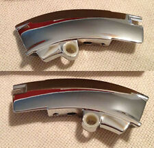 1969-'76 Corvette Upper Chrome Windshield Trim Corners- NEW-Pair