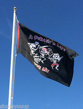 A Pirates Life 5ft x 3ft Flag, Banner, Garden Decoration for Flag Pole