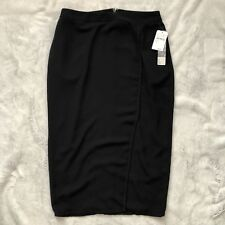 Black Pencil Wrap Skirt NWT Size 8 Nordstrom rack 14th and union
