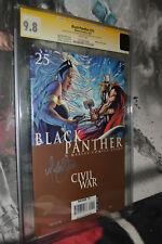 Black Panther #25 CGC 9.8 SS Michael Turner Civil War rare WHITE pages