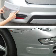2 Pcs Gray Rubber Car Front Rear Bumper Protector Corner Guard Scratch Sticker