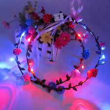 LED Flashing Floral Flower Hairband Headband Light-Up Wedding Accessory HGUK
