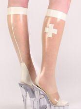 214 Latex Rubber Gummi clinic nurse Stocking socks thigh-highs customized 0.4mm