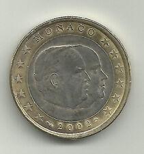 MONACO 2002 - 1 Euro - Prins Rainier met Albert - UNC!