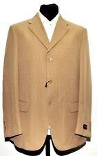 NEW MEN VALENTINO TAN PINSTRIPE SUIT MADE IN ITALY 40R/W33