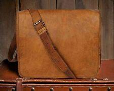 Leather Bag Shoulder Men Messenger Briefcase Satchel Laptop Business Office New