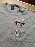 Looney Tunes Taz Bowling Pocket T-Shirt, Warner Bros Store Cotton Men's M, Gray