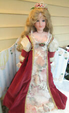 """Bell Ceramics Porcelain Doll By Theresa 27"""" dominique 1998 Victorian"""