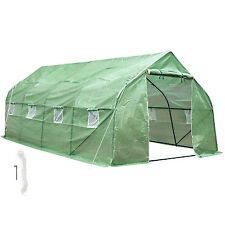 Greenhouse steel frame poly PE foil tomato house garden plant tunnel 600x300x205
