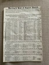 More details for 1847 derby stakes race card (cossack)