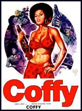 Men's Ladies T SHIRT retro cool film movie star COFFY pam grier drugs 70s
