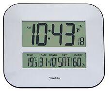 Jumbo LCD Radio Controllato Orologio da parete con display temperatura e umidità (.