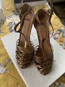 ASOS Bronze Shoes Size 5