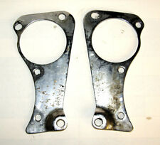 TRIUMPH Pre UNIT Front engine plates Dynamo Chromed One Hole Changed