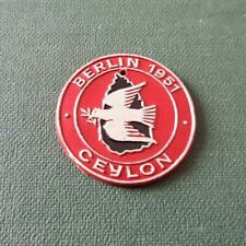 DDR Abzeichen - FDJ - Ceylon - Berlin 1951 - aus Pappe