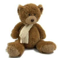 """TY Chaucer Brown Teddy Bear Plush 15"""" Stuffed Animal Toy Borders Exclusive"""