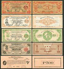 5 US Philippines WW2 ILOILO Notes Pres. Quezon, Roosevelt & Gen. MacArthur