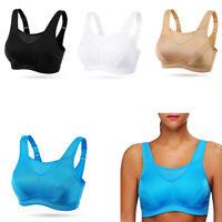 Women's Ultra Comfort Seamless Sport  Yoga Running Bra Lot High Impact Plus Size