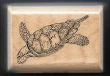 SEA TURTLE Marine Sea Life Reptile Testudines MOSTLY ANIMALS 615-S3 RUBBER STAMP