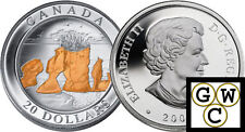 2004 Hopewell Rocks $20 Gold-Plated .9999 Fine Silver (Natural Wonders) (11022)