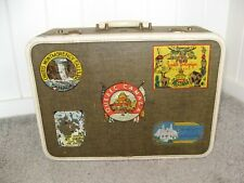 US Trunk Co SUITCASE Luggage With NYC  NH Quebec Montreal Canada Travel Stickers