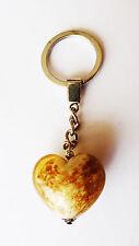 exklusiver Schlüsselanhänger Glas Herz / Unikat / Geschenkset / Gold