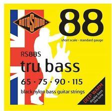 Rotosound RS88S Tru Bass Black Nylon Bass Guitar Strings 65-115 Short Scale