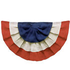 """Patriotic Party Decoration 4th Of July BURLAP Bunting Red White Blue 36"""" X 18"""""""