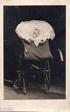 BJ246 Carte Photo vintage card RPPC Enfant landeau poussette portrait bébé