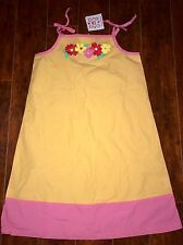 New Hanna Andersson Dress Size 150 colorful Flowers Orange Pink US 12 NWT