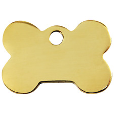 Red Dingo Dog ID, Pet Tag, Charm FREE Personalized Engraved~BRASS BONE