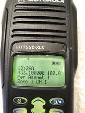 Motorola HT1550XLS HAM UHFL 403-470 Mhz. FPP NO RED BATTERY