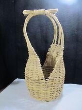Large Vintage Handmade Cherokee Style Gathering Basket Foraging Garden Egg