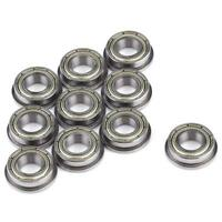 10pcs F625ZZ Steel Shielded Flanged Ball Precise Flange Bearing 5x16x5mm JH