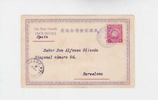 japan 1903 pictorial p.card with one 4s stamp from korea ,to spain     n1821