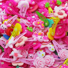 Wholesale 20X Assorted Baby Kids Girls Cute Flower HairPin Hair Clips Jewelry sm