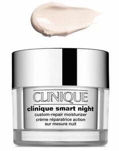 CLINIQUE Smart NIGHT Custom Repair Moisturizer 1oz Travel Dry Combination