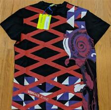 Mens Authentic Versace Jeans Intracate Print T-Shirt Charcoal/Red Medium $150