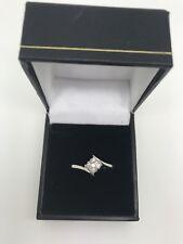 9ct White Gold .25 Carat Diamond Cluster Ring Size O 1/2