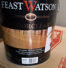 "Feast Watson ""FLOORCLEAR"" SATIN 4 Litre can  - pick up only"