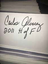 Carlos Alvarez Florida Gators 2011 College Hall Of Fame Signed 3x5 index Card