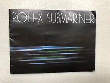 Rolex booklet Submariner 1982 USA per 16800 16808 5513 1665 16660